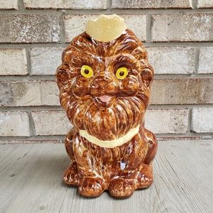 Vintage Lion Coin Bank w/ Crown and Collar